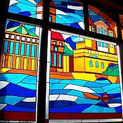Для дома и интерьера ручной работы. Ярмарка Мастеров - ручная работа Витражи для витрин. Handmade.