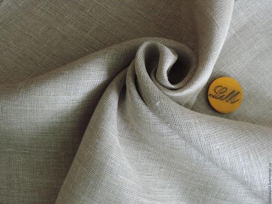Шитье ручной работы. Ярмарка Мастеров - ручная работа. Купить ткань лен сетка серая. Handmade. Лён натуральный