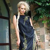 """Одежда handmade. Livemaster - original item Вышитый льняной костюм """"Лавровая ветка"""" костюм с вышивкой. Handmade."""
