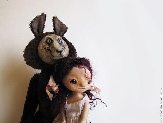 """Коллекционные куклы ручной работы. Ярмарка Мастеров - ручная работа. Купить """"...а бурый волк ей верно служит.."""". Handmade."""