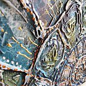 """Картины и панно ручной работы. Ярмарка Мастеров - ручная работа """"Один""""  рельефное панно. Handmade."""