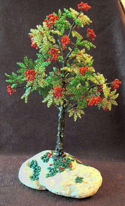 Деревья ручной работы. Ярмарка Мастеров - ручная работа. Купить рябина. Handmade. Бисер, гипс, проволока