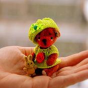 Куклы и игрушки ручной работы. Ярмарка Мастеров - ручная работа Мишка тедди, 7см. Handmade.