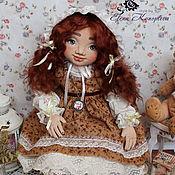 Куклы и игрушки handmade. Livemaster - original item doll textile. Vasilina doll interior with an oversized face. Handmade.