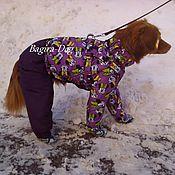 """Для домашних животных, ручной работы. Ярмарка Мастеров - ручная работа Зимний комбинезон для собак """" Минни Маус """". Handmade."""