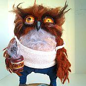 """Куклы и игрушки ручной работы. Ярмарка Мастеров - ручная работа Сова """"я не высыпаюсь"""". Handmade."""