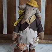 Куклы и игрушки ручной работы. Ярмарка Мастеров - ручная работа Слон и Моська - 2 авторские плюшевые игрушки. Handmade.