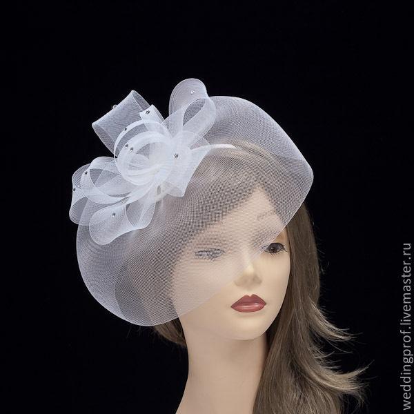 Шляпка невесты на ободке мастер класс сделай сам #10