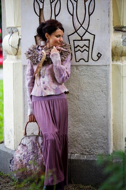 """Пиджаки, жакеты ручной работы. Ярмарка Мастеров - ручная работа. Купить авторский жакет из шерсти и шелка """"Vintage Style"""". Handmade."""
