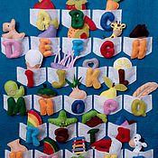 Куклы и игрушки ручной работы. Ярмарка Мастеров - ручная работа Алфавит из фетра Английский. Handmade.