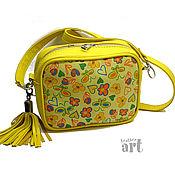Сумки и аксессуары handmade. Livemaster - original item Crossbody bag: Women`s leather bag with Flower. Handmade.