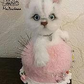 Stuffed Toys handmade. Livemaster - original item Pincushion pussy. Handmade.