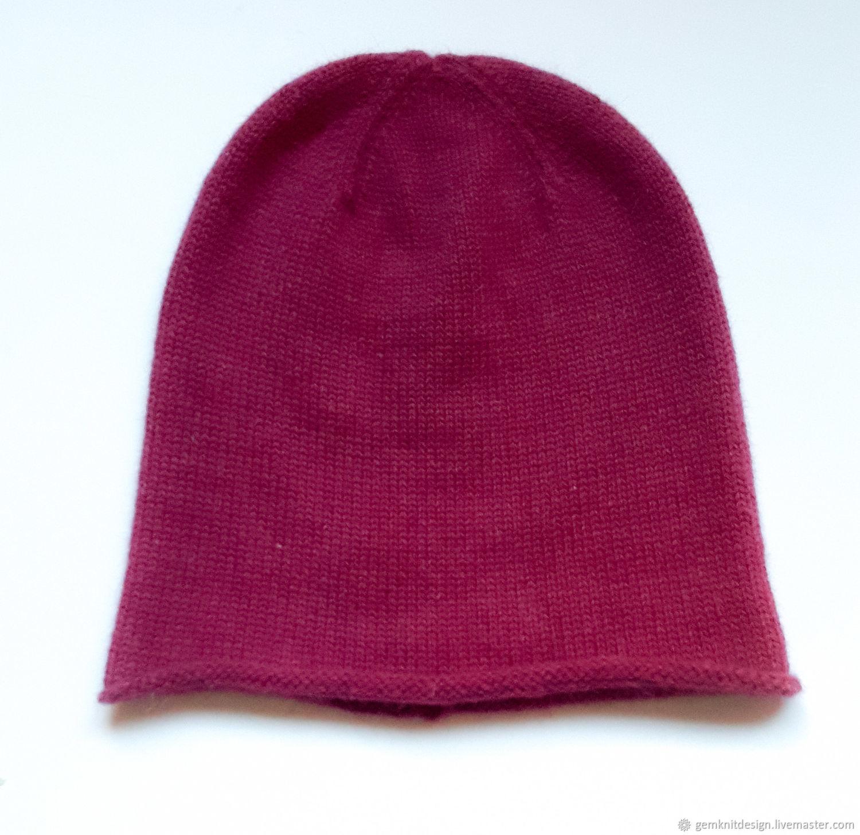 Angora merino beanie hat. Pink hat – shop online on Livemaster with ... 033cb24ec1b