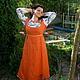 """Платья ручной работы. Скидка 20% Платье""""Вышивка"""". Анастасия Дьякова (darilad). Ярмарка Мастеров. Льняное платье, длинное платье"""