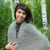 Аксессуары handmade. Livemaster - original item 128 - scarf feather grey, Orenburg shawl. Handmade.
