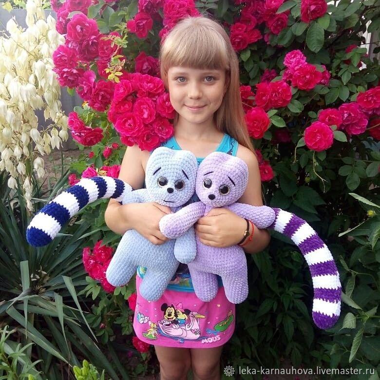 Вязаные игрушки Лемур, Мягкие игрушки, Волгодонск,  Фото №1