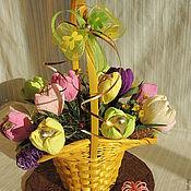 Подарки к праздникам ручной работы. Ярмарка Мастеров - ручная работа Первые цветы. Handmade.