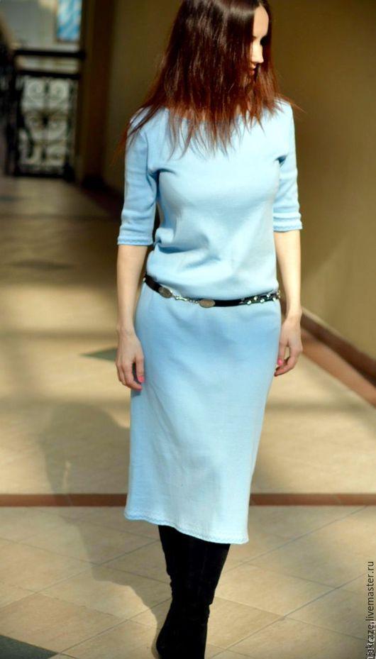 Платья ручной работы. Ярмарка Мастеров - ручная работа. Купить Платье, миди нежно голубого цвета. Handmade. Голубой, jekraze