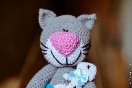 Обучающие материалы ручной работы. Ярмарка Мастеров - ручная работа. Купить Мк по котику с рыбкой (описание игрушки). Handmade. Серый