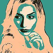 Дизайн и реклама ручной работы. Ярмарка Мастеров - ручная работа Портрет в стиле Поп-арт. Handmade.