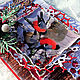 """Открытки к Новому году ручной работы. Заказать Новогодняя открытка """"Снегири"""". Анна Букал (bukalanna). Ярмарка Мастеров. Белый"""