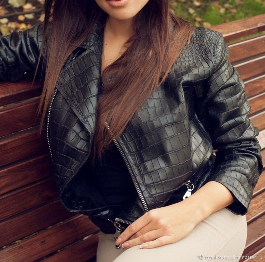 Women's jackets made of genuine crocodile leather, premium class, Outerwear Jackets, Tosno,  Фото №1