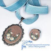 Свадебный салон handmade. Livemaster - original item Embroidery kit hi, camomile!. Handmade.