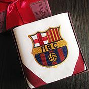 Подарки к праздникам handmade. Livemaster - original item Handkerchief men`s Luxury. monogram Barcelona. Handmade.