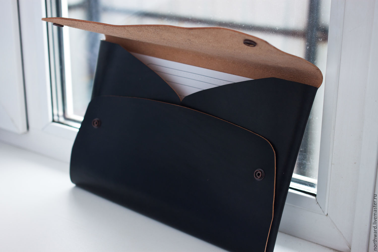 aba8c7fc0eee Men s Bags handmade. Livemaster - handmade. Buy Folder under  documents laptop.Black ...