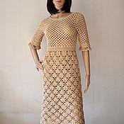 handmade. Livemaster - original item Dress crochet cotton.. Handmade.