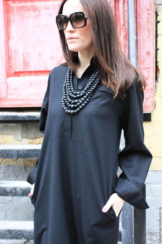 R00048 Платья черное из шерсти теплое платье шерстяное красивое длинное платье на каждый день уютное платье свободное дизайнерское платье в пол с рукавами длинная рубашка