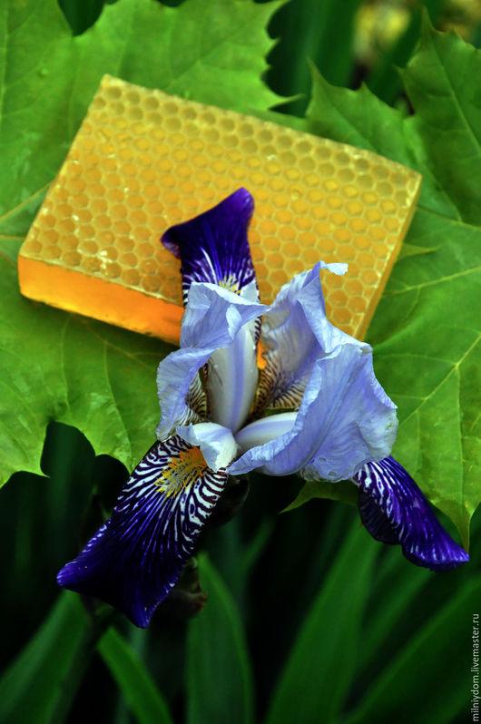 Мыло ручной работы. Ярмарка Мастеров - ручная работа. Купить Натуральное мыло с медом и вощиной.. Handmade. Мыло в подарок