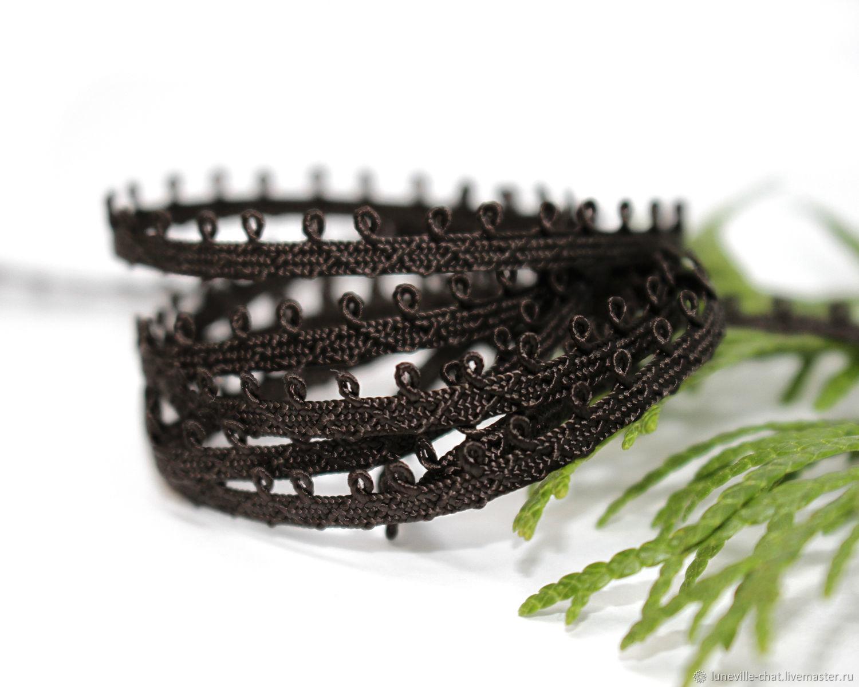 5 mm dark brown Pico mokuba ribbon (No. №7), braid, St. Petersburg,  Фото №1