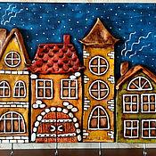 """Для дома и интерьера ручной работы. Ярмарка Мастеров - ручная работа Ключница """"Сказочный город"""". Handmade."""