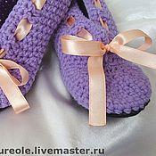 """Обувь ручной работы. Ярмарка Мастеров - ручная работа """"Кукольные туфельки-балетки""""для взрослой девочки(меринос). Handmade."""