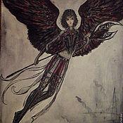"""Картины и панно ручной работы. Ярмарка Мастеров - ручная работа Репродукция картины """"Тёмный ангел"""". Handmade."""
