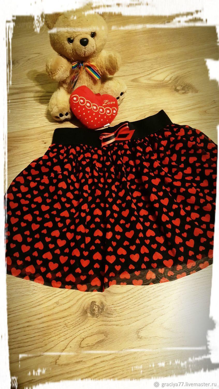 Детская юбка сердца