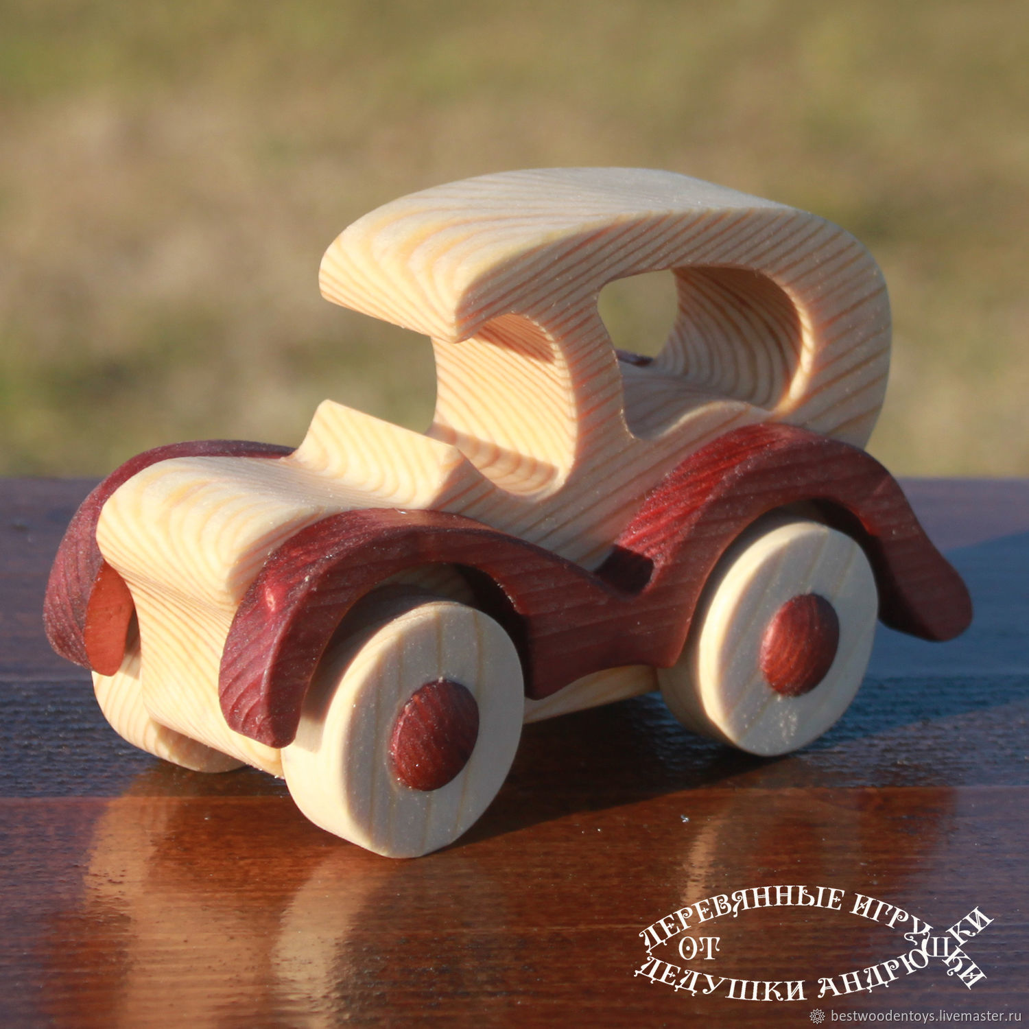 Waldorf toy. Machine wood. Machine - Cadence. Retro garage. Machines can be easily retro. Wooden toys from Santa Andrewski.