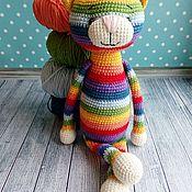 Куклы и игрушки handmade. Livemaster - original item Soft knitted toy rainbow cat. Handmade.