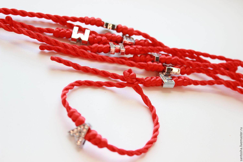 Как сделать красную нитку