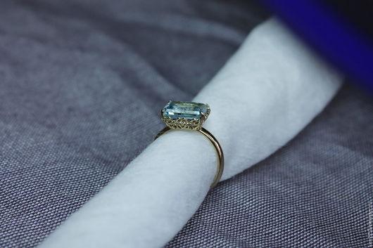 Кольца ручной работы. Ярмарка Мастеров - ручная работа. Купить Золотое кольцо из желтого золота 585 пробы с топазом 4,2 карата. Handmade.