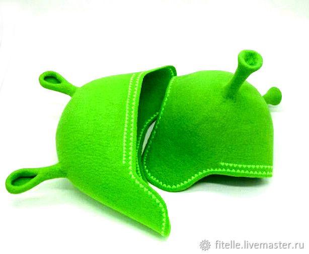 Hat for bath and sauna ' Shrek and Fiona', Textiles for a bath, Kalachinsk,  Фото №1
