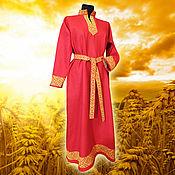 Русский стиль handmade. Livemaster - original item Women`s shirt Golden Svarga. Handmade.