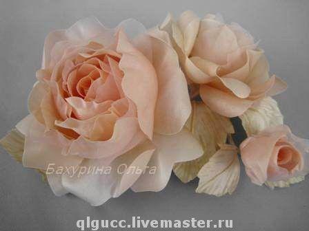 Свадебные украшения ручной работы. Ярмарка Мастеров - ручная работа. Купить Роза Николь(цветы из шёлка). Handmade. Свадебное украшение