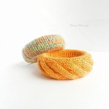 Украшения ручной работы. Ярмарка Мастеров - ручная работа Вязаные браслеты набор Шафран и хмели сунели. Handmade.