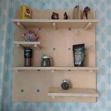 Для дома и интерьера ручной работы. Ярмарка Мастеров - ручная работа Модульная полка на кухню. Handmade.