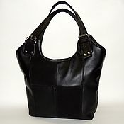 Сумки и аксессуары handmade. Livemaster - original item Leather bag black Charlize. Handmade.
