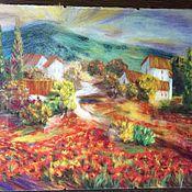 """Картины и панно ручной работы. Ярмарка Мастеров - ручная работа картина из шерсти"""" пейзаж Италии"""". Handmade."""