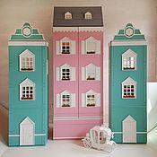 Мебель ручной работы. Ярмарка Мастеров - ручная работа Шкаф-домик с балкончиками и подсветкой №2. Handmade.