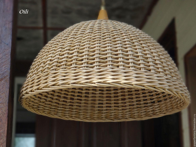 плетенка на абажуре